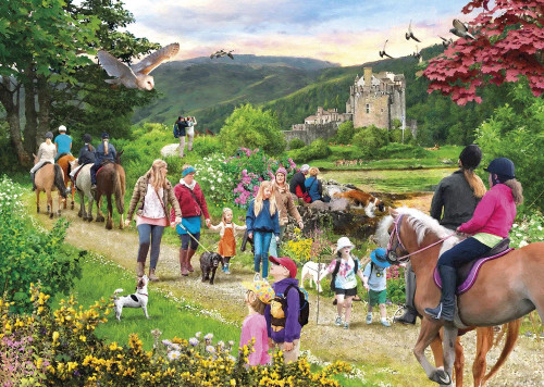 Highland Hike - 1000pc Jigsaw Puzzle by Gibson