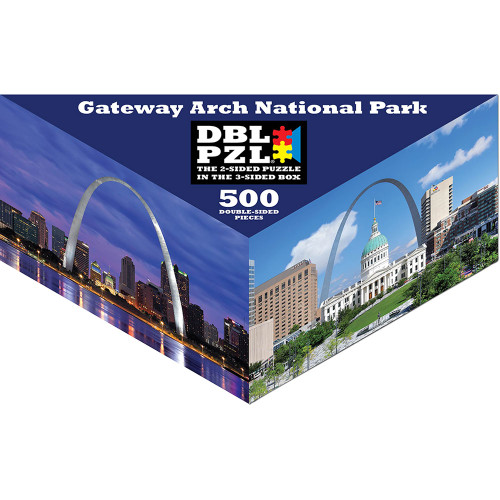 Gateway Arch National Park - 500pc Double-Sided Jigsaw Puzzle by Pigment & Hue