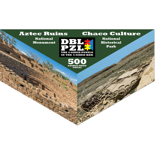 Aztec Ruins / Chaco Culture - 500pc Double-Sided Jigsaw Puzzle by Pigment & Hue