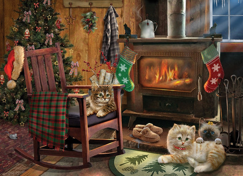 Kittens by the Stove - 500pc Jigsaw Puzzle By Cobble Hill