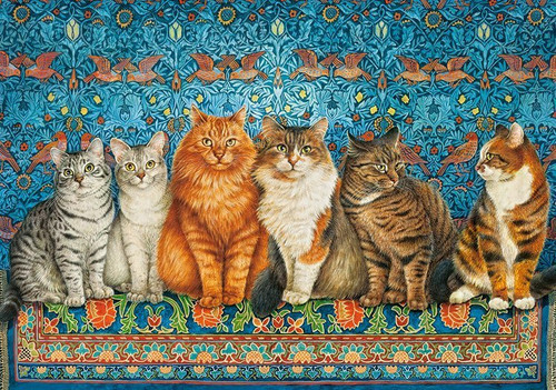 Cat Aristocracy - 500pc Jigsaw Puzzle by Castorland