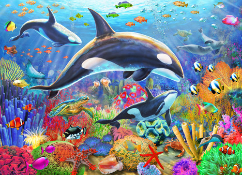 Orca Fun - 1000pc Jigsaw Puzzle by Vermont Christmas Company