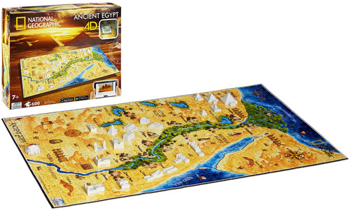 4D National Geographic Ancient Egypt - 600+pc Jigsaw Puzzle  by 4D Cityscape
