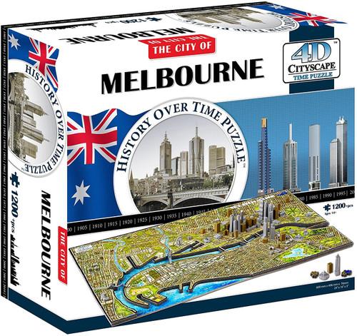 Melbourne, Australia -  1200+pc Jigsaw Puzzle  by 4D Cityscape