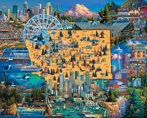 Best of Seattle - 100pc Jigsaw Puzzle by Dowdle