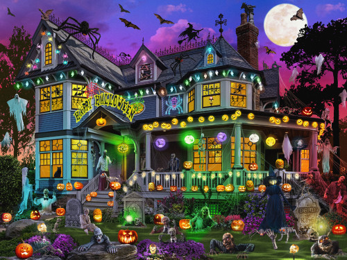 Halloween House - 550pc Jigsaw Puzzle by Vermont Christmas Company