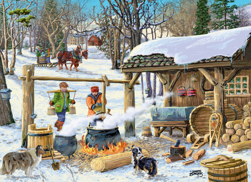 Maple Syrup Time - 1000pc Jigsaw Puzzle by Vermont Christmas Company