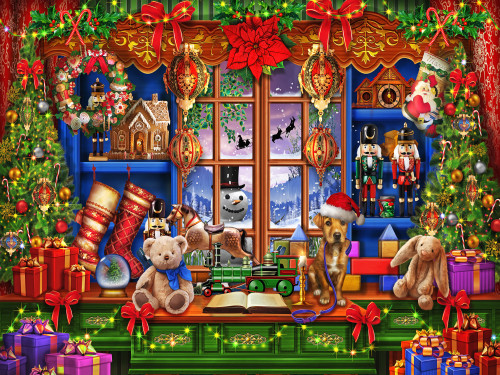 Ye Olde Christmas Shoppe - 550pc Jigsaw Puzzle by Vermont Christmas Company