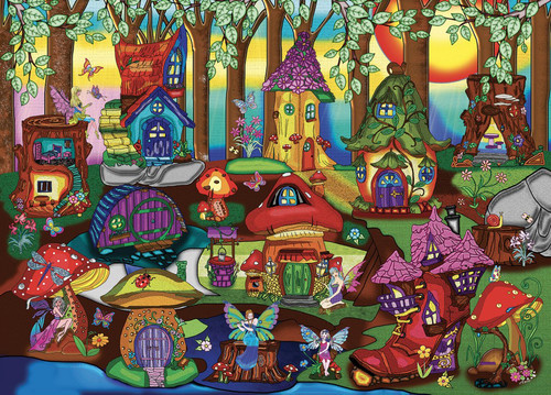 The Enchanted Forest - 1000pc Jigsaw Puzzle by JaCaRou