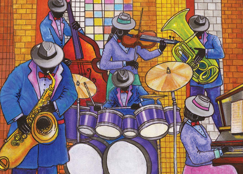 Jazz - 500pc Jigsaw Puzzle by African American Expressions