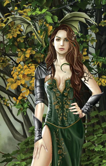 Nene Thomas: Emerald Portrait - 1000pc Jigsaw Puzzle By Sunsout