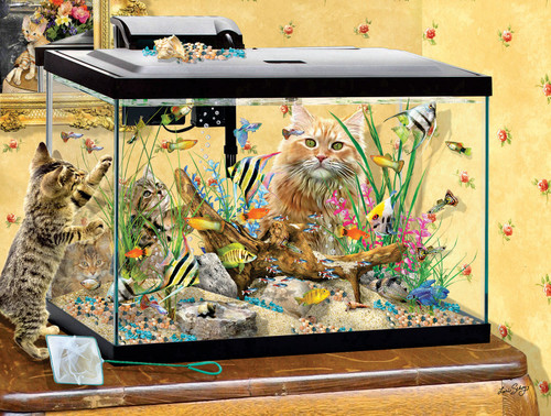 Fish Tank - 300pc Large Format Jigsaw Puzzle By Sunsout