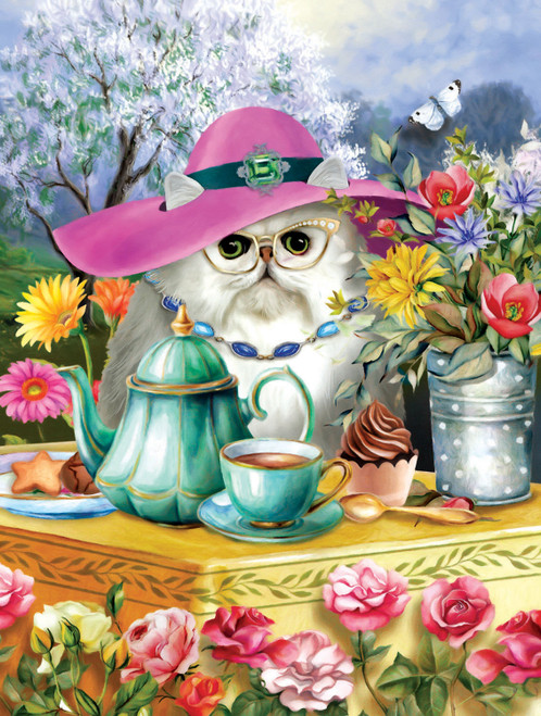 Afternoon Tea - 300pc Large Format Jigsaw Puzzle By Sunsout