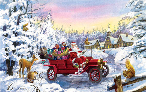 Thoroughly Modern Santa - 550pc Jigsaw Puzzle By Sunsout