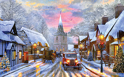 A Village Drive - 300pc Large Format Jigsaw Puzzle By Sunsout