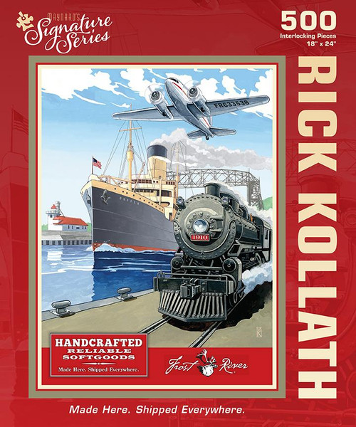 Rick Kollath - Made Here. Shipped Everywhere. - 500pc Jigsaw Puzzle by Maynard's