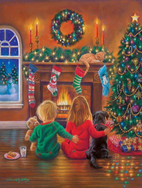 Holiday Hugs - 300pc Large Format Jigsaw Puzzle By Sunsout