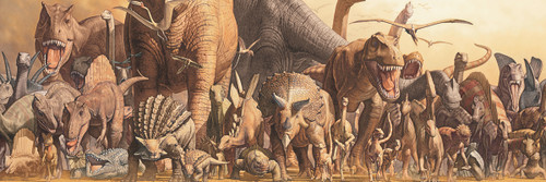 Dinosaurs by Haruo Takino - 1000pc Jigsaw Puzzle by Eurographics