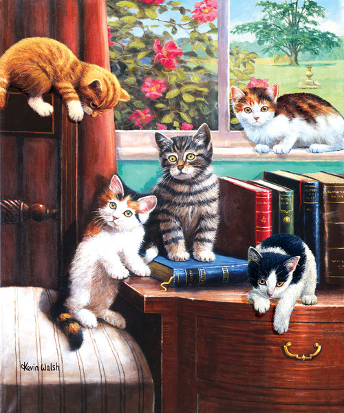 Playtime in the Study - 500pc Jigsaw Puzzle By Sunsout