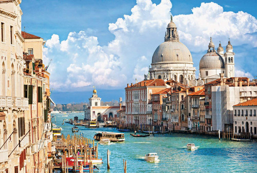 Venice with Grand Canal in Italy - 500pc Large Format Jigsaw Puzzle By Tomax