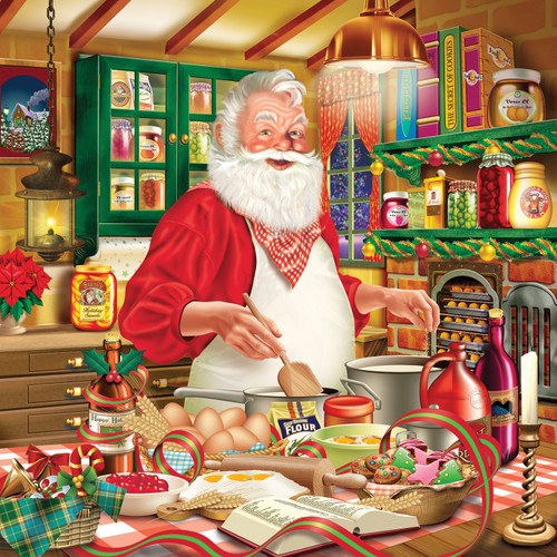 Cooking Santa - 500pc Jigsaw Puzzle By Sunsout
