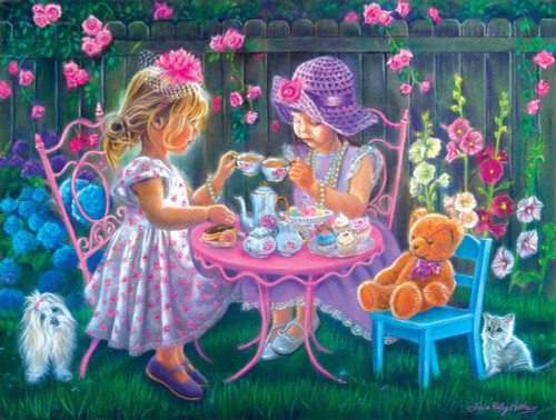 A Tea Party for Two - 500pc Jigsaw Puzzle By Sunsout