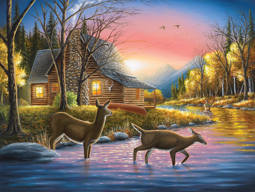 River's Crossing - 500pc Jigsaw Puzzle By Sunsout