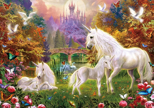 Castle Unicorns - 1000pc Jigsaw Puzzle By PuzzleLife