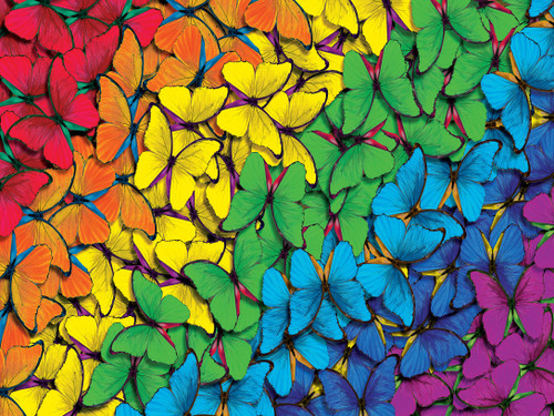 Brilliance: Fluttering Rainbow - 550pc Jigsaw Puzzle by Masterpieces