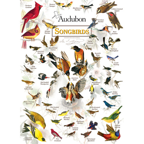 Audubon: Songbirds - 1000pc Jigsaw Puzzle by Masterpieces