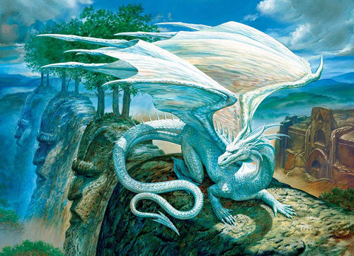 White Dragon - 500pc Jigsaw Puzzle By Cobble Hill