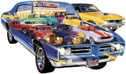Contours: Hot Rod - 1000pc Shaped Puzzle by Masterpieces