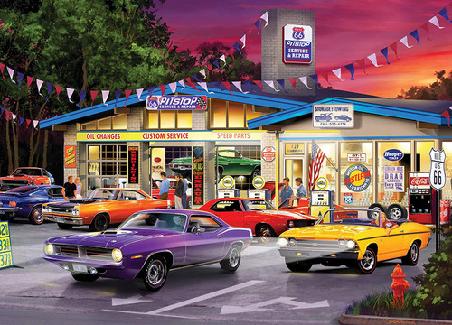 Cruisin' Rt 66: Route 66 Pitstop - 1000pc Jigsaw Puzzle by Masterpieces