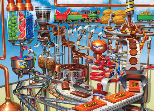 Hershey: Chocolate Factory - 1000pc Jigsaw Puzzle by Masterpieces
