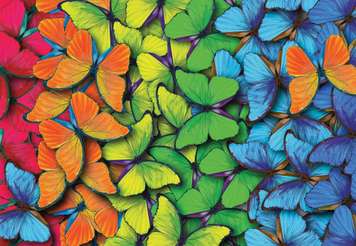 Rainbow Butterflies - 1000pc Jigsaw Puzzle by Turner
