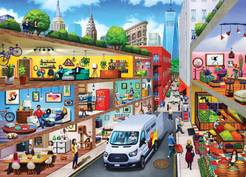 Inside Out: City Living - 1000pc Jigsaw Puzzle by Masterpieces