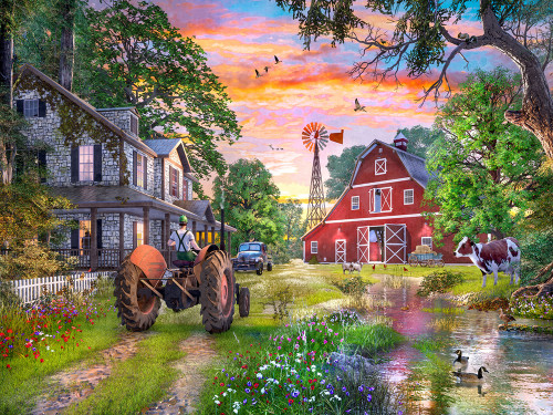 Working Farm - 550pc Jigsaw Puzzle by Vermont Christmas Company