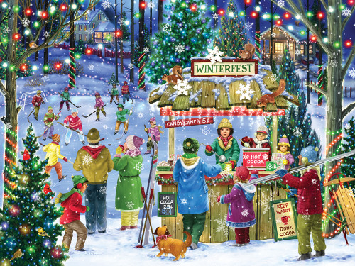 Winterfest - 550pc Jigsaw Puzzle by Vermont Christmas Company