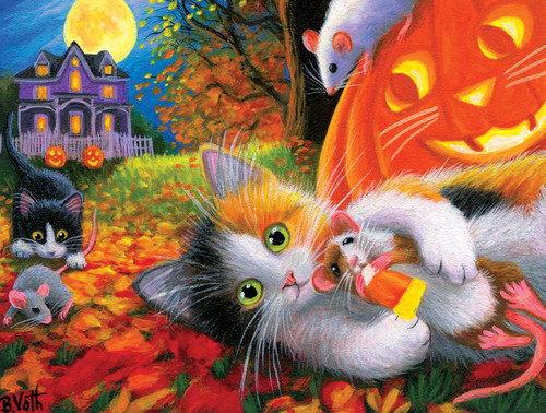 Halloween Fun With Friends - 300pc Large Format Jigsaw Puzzle By Sunsout