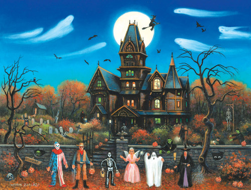 Trick or Treaters Beware - 300pc Large Format Jigsaw Puzzle By Sunsout