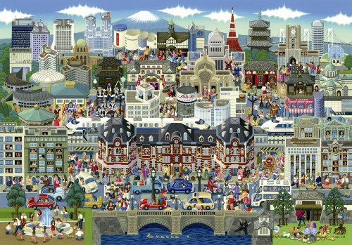 Tokyo Attractions - 1000pc Jigsaw Puzzle By PuzzleLife