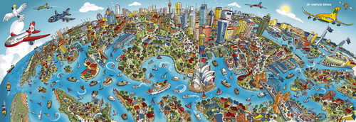 Sydney - 1000pc Panoramic Jigsaw Puzzle by Schmidt