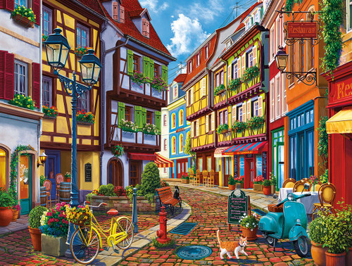 Old World Street - 550pc Jigsaw Puzzle By White Mountain