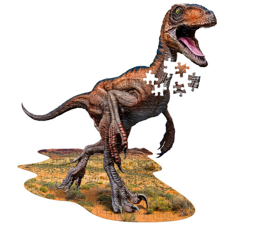 I AM Raptor - 100pc Shaped Jigsaw Puzzle by Madd Capp
