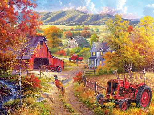 Down the Country Road - 300pc Large Format Jigsaw Puzzle by Cra-Z-Art
