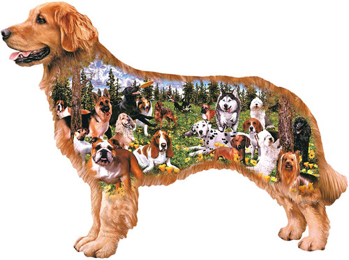 Dog Park - 350pc Shaped Jigsaw Puzzle by Cra-Z-Art