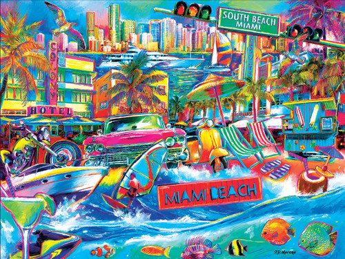 I Heart South Beach - 300pc Large Format Jigsaw Puzzle by Cra-Z-Art