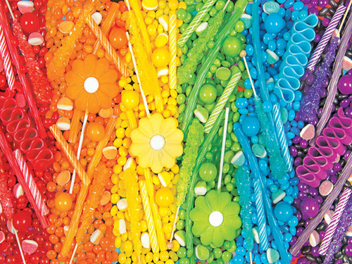 Rainbow Candy Collage - 300pc Large Format Jigsaw Puzzle by Cra-Z-Art
