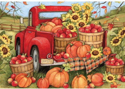 Harvest Truck - 1000pc Jigsaw Puzzle by Lang