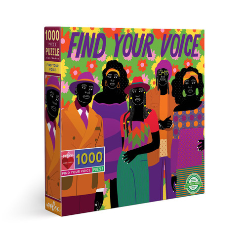 Find Your Voice - 1000pc Square Jigsaw Puzzle by eeBoo